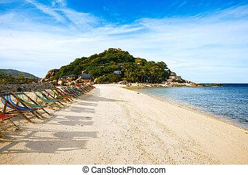 Thailand, Koh Nang Yuan beach and resort