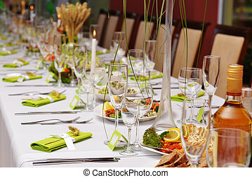 Wedding reception place ready for guests.