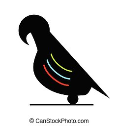 parrot silhouette vector illustration