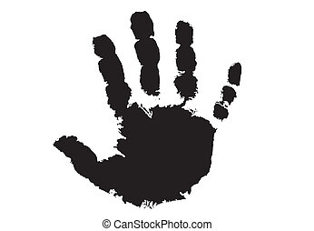 Hand print in black color only