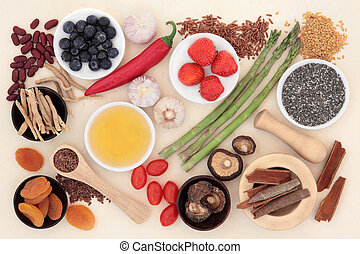 Super Food - Super food selection forming an abstract...