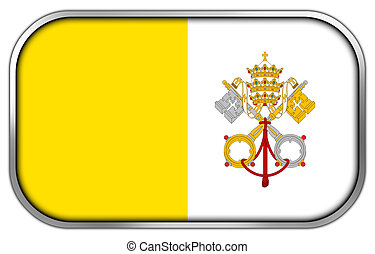 Vatican City Flag rectangle glossy button