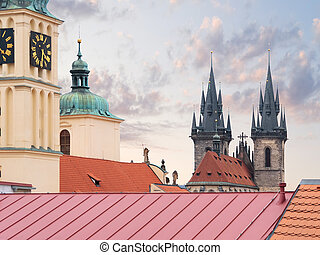 Church of Our Lady Before Tyn in Prague, Czech republic -...