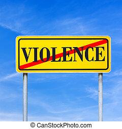 Violence forbidden