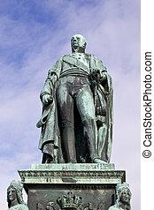 Carl, Friedrich, estátua, closeup