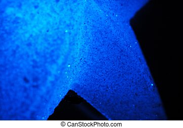 Star Blue - MAcro photo of Xmas decoration lit by blue fairy...