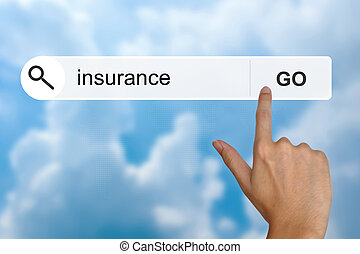 insurance on search toolbar - insurance button on search...