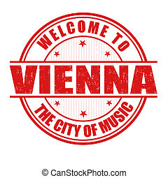 Welcome to Vienna stamp - Welcome to Vienna, The City of...