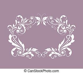 Beautiful wedding frame