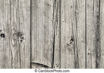 Old Knotted Floorboards - Photograph of old, weathered,...