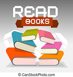 Read Books Vector Illustration