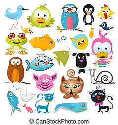 Vector Animals Set Isolated on White Background