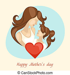 Happy Mothers Day Vector Illustration Eps 10