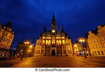 Liberec townhall night