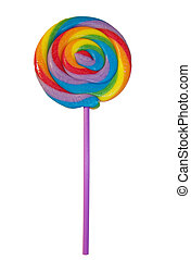 Isolated Rainbow Lollipop - Here is a delightful rainbow...