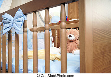 Baby bed with Teddy