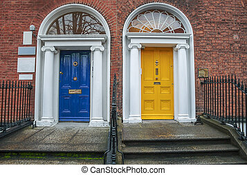 Vintage doors in Dublin - Two vintage Georgian doors in...