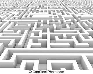 White endless maze.