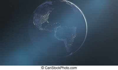 Night Lights of the Americas - The North and South American...