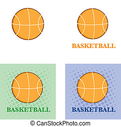 Abstract Basketballs With Text
