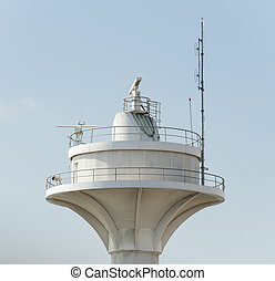 Coastguard radar tower - Top of a coastguard radar tower...