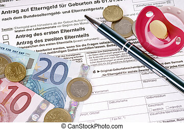 parental benefits - German Application for parental benefits