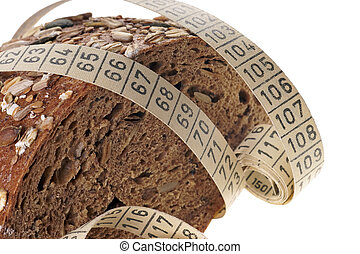 wholemeal bread - Wholemeal bread with measuring tape