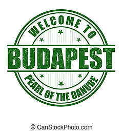 Welcome to Budapest stamp - Welcome to Budapest, Pearl of...