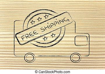 free worldwide shipping truck design - logo for an...