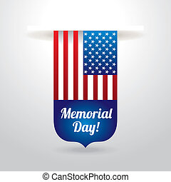 Memorial Day design over background, vector illustration