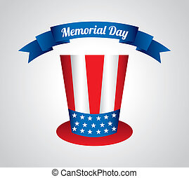 Memorial Day design over gray background, vector...