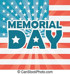 Memorial Day design over US flag background, vector...