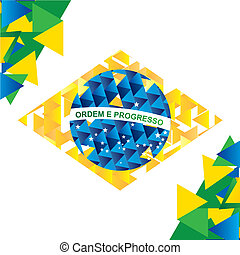 Brazil Design - Brazil design over white background, vector...
