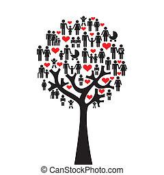 Family design over white background, vector illustration