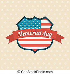 Memorial Day design over beige background, vector...
