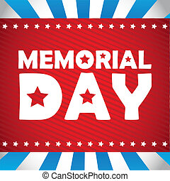 Memorial Day design, vector illustration