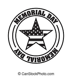Memorial Day design over white background, vector...