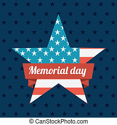 Memorial Day design over blue background, vector...