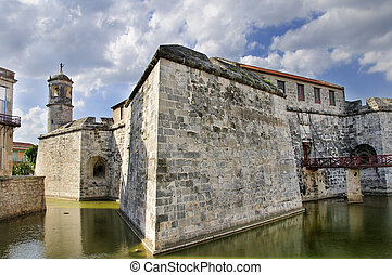 Castillo de la Real Fuerza - Havana Fort - A view of Old...