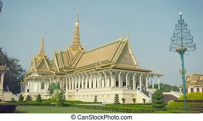 Royal Palace, Throne Hall in Phnom Penh, Cambodia - High...