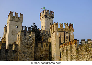 Lake Garda - Castle Sirmione on lake Garda, Italy