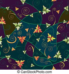 Seamless pattern with clover leaves for st.Patrick's Day. Dark background.
