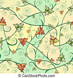 Seamless pattern with clover leaves for st.Patrick's Day.