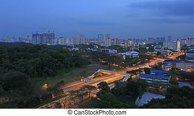Singapore Public Housing Blue Hour - Singapore Public...