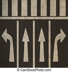 Directional Street Arrows Pedestrian Crosswalk