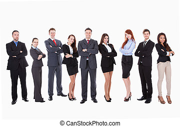 Large group of business people Isolated on white