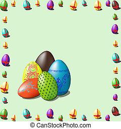 frame of easter eggs