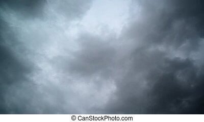 Dramatic Sky with dark storm clouds - Dramatic Sky with dark...