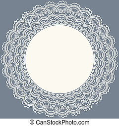 Lace frame. Wedding invitation.Vector illustration