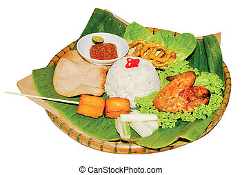 Indonesian bali food on background - Indonesian bali food on...